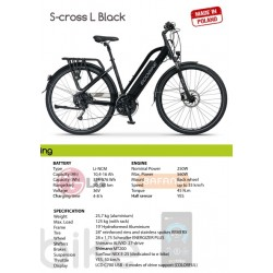 BICICLETA ELECTRICA ECOBIKE S CROSS L BLACK